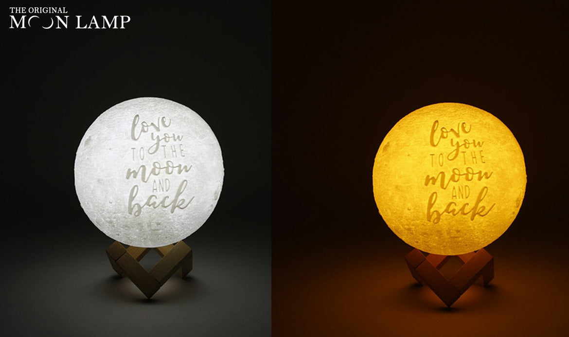 I love you to the moon and back Moon Lamp