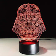 Star Wars Mask 3D Illusion Lamp