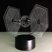 Star Wars Tie Fighter 3D Illusion Lamp