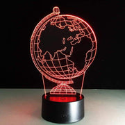 Earth Globe 3D Illusion Lamp