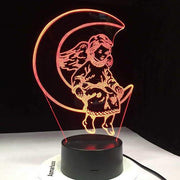 Angel On Moon 3D Illusion Lamp