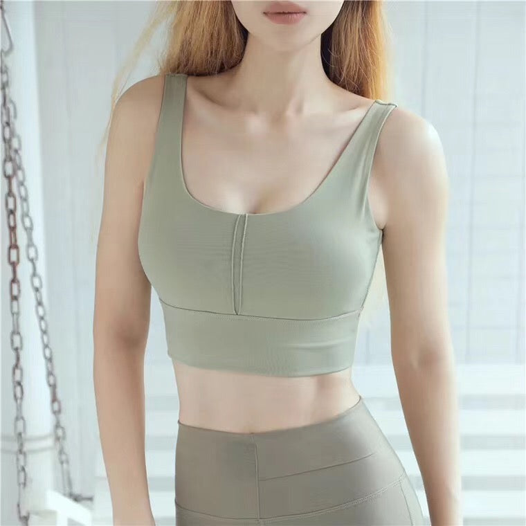 Angelina Gym Wear Set in Khaki Green