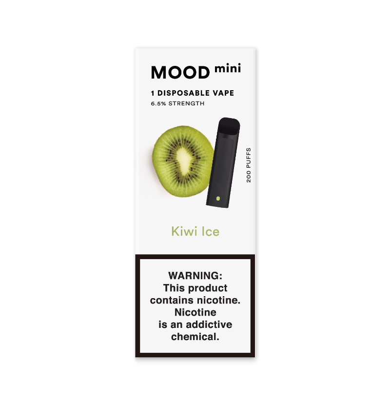 Kiwi Ice Mini Disposable Vape Device | MOOD VAPING