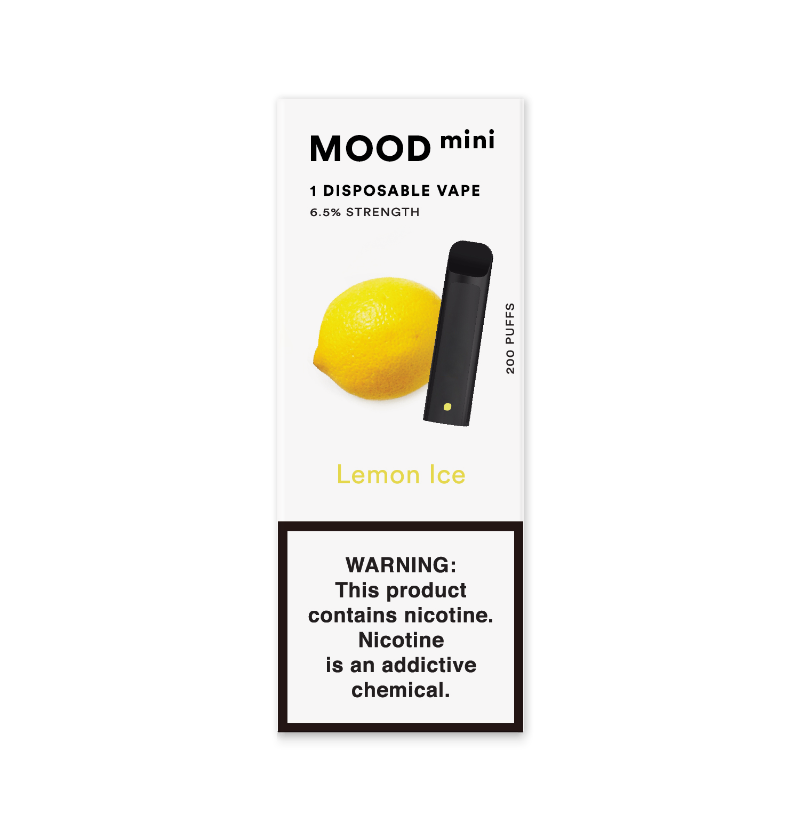Lemon Ice Mini Disposable Vape Device | MOOD VAPING