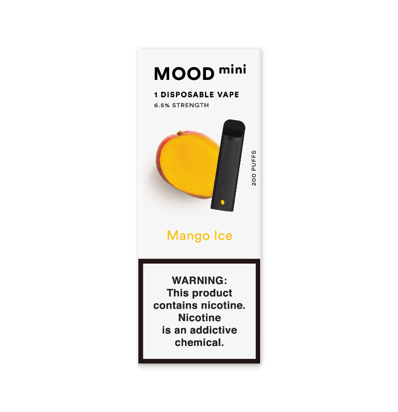 Mango Ice Mini Disposable Vape Device | MOOD VAPING