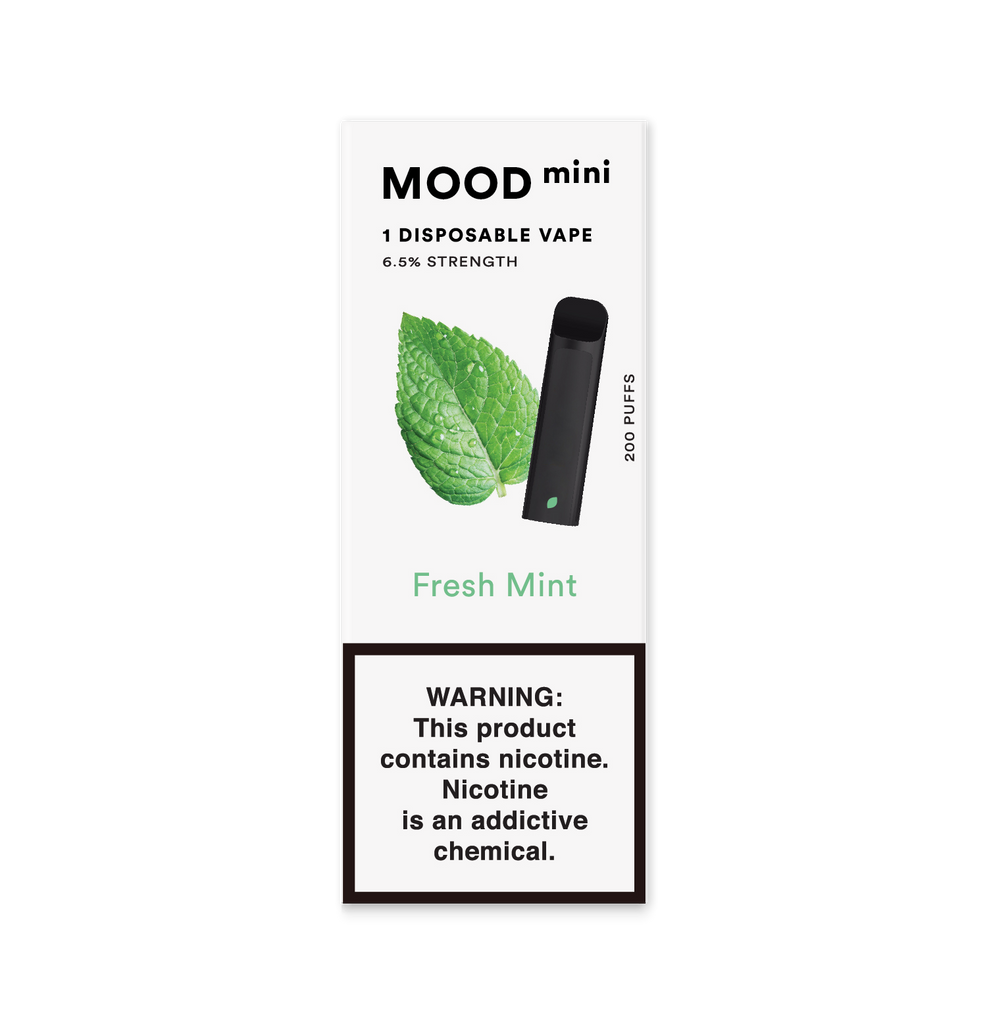 Fresh Mint Mini Disposable Vape Device | MOOD VAPING