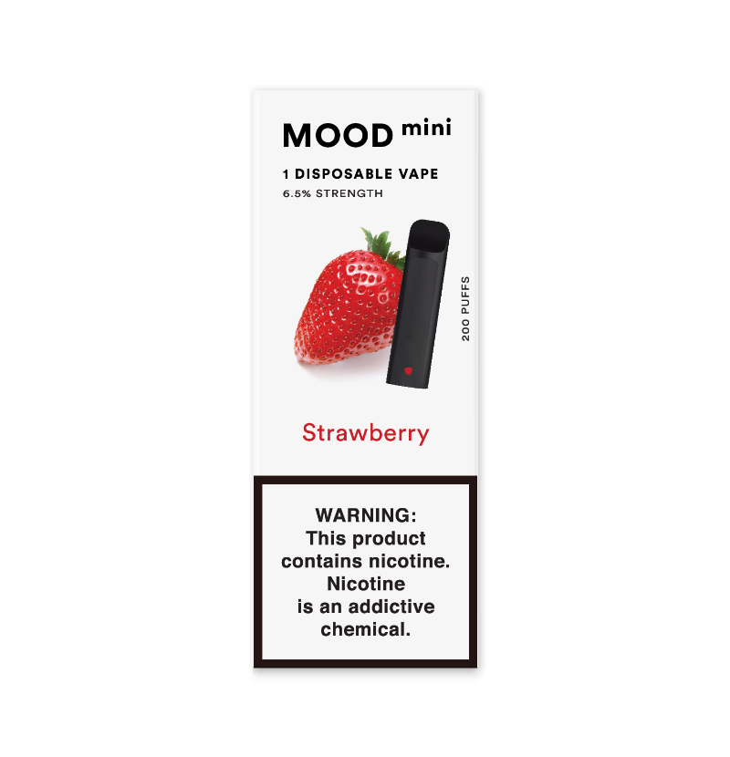 Strawberry Mini Disposable Vape Device | MOOD VAPING