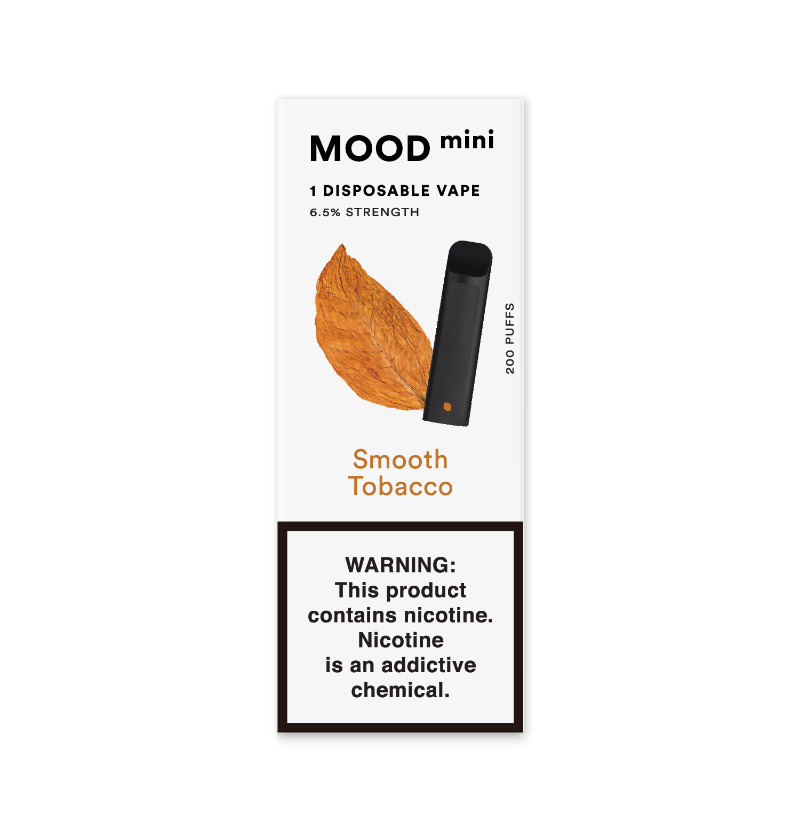 Smooth Tobacco Mini Disposable Vape Device | MOOD VAPING