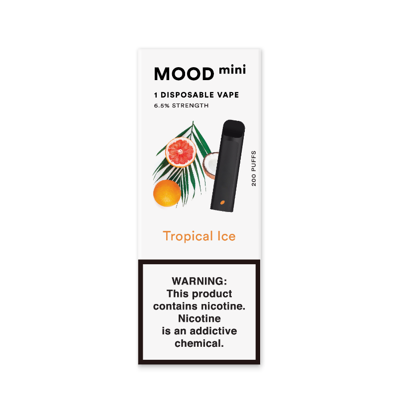 Tropical Ice Mini Disposable Vape Device | MOOD VAPING
