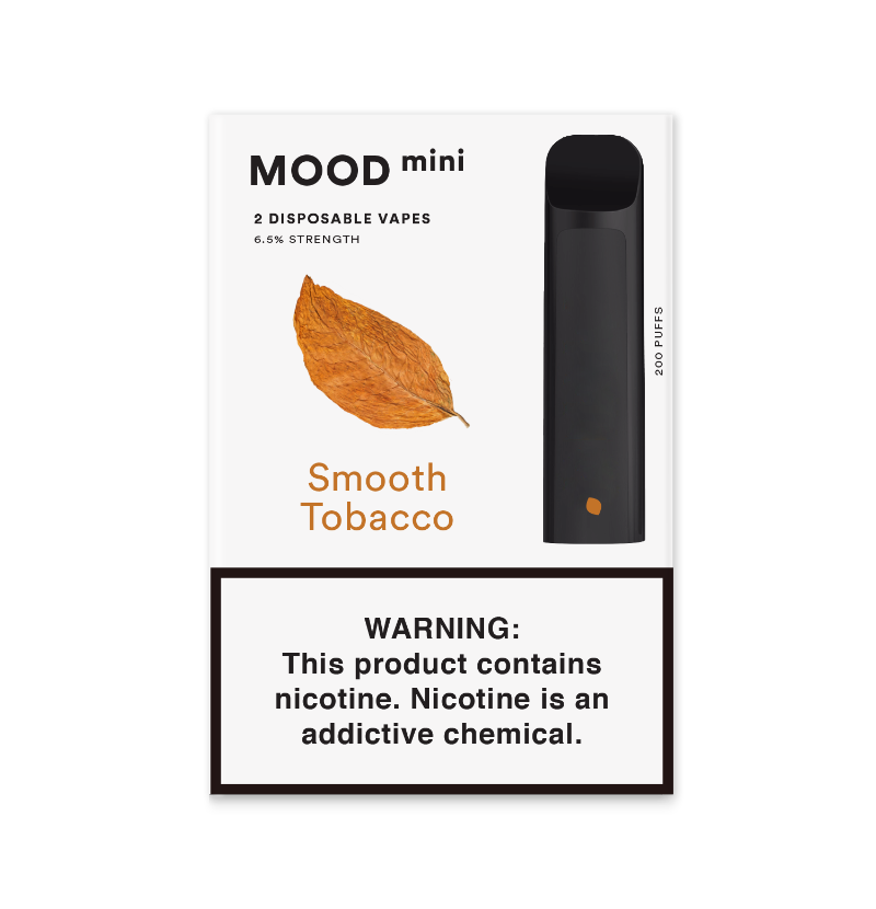 Smooth Tobacco Mini Disposable Vape Device | MOOD VAPING Double Pack