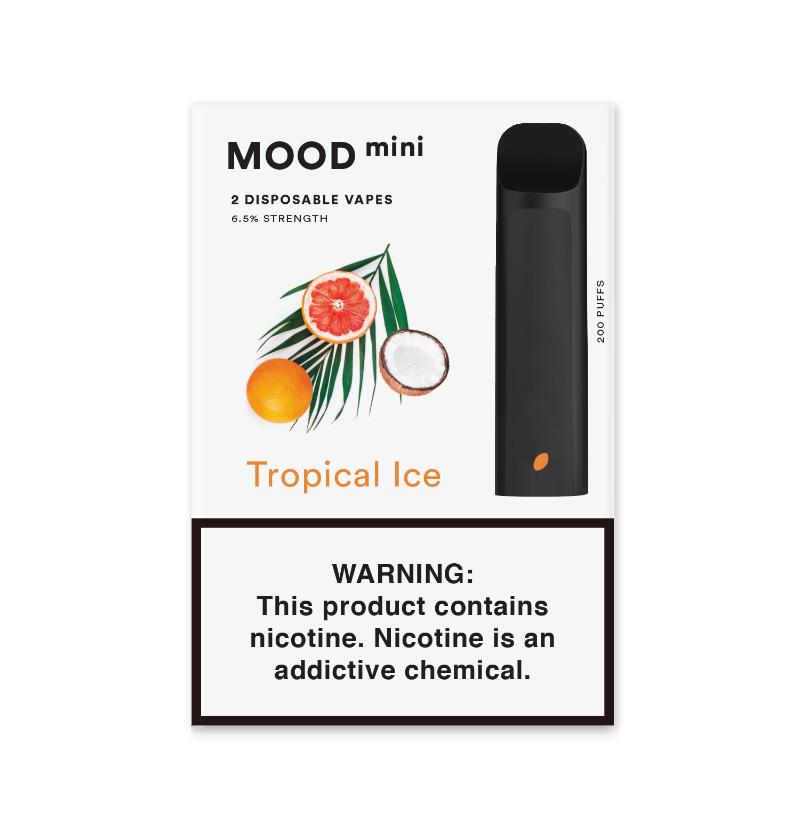 Tropical Ice Mini Disposable Vape Device | MOOD VAPING Double Pack
