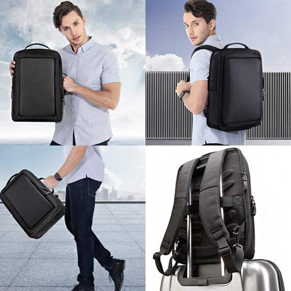 Anti Theft Leather Laptop Backpack