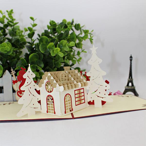 3D Christmas Greeting Cards(3 Pcs)