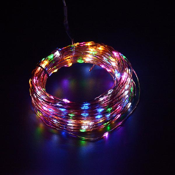 100 Led Copper Wire Remote String Lights(1 Set)