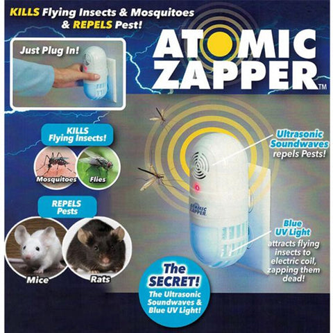 THE 2-IN-1 ULTRASONIC PEST REPELLER AND FLYING INSECT ZAPPER
