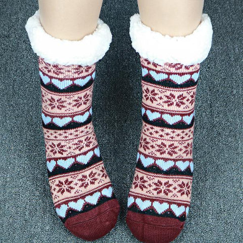 Adult Thicken Added-velvet Floor Socks