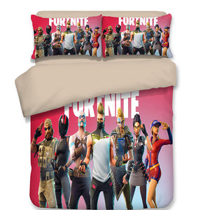 Fortnite Single Double Twin Queen King Bed Pillowcase Quilt Cover bedding