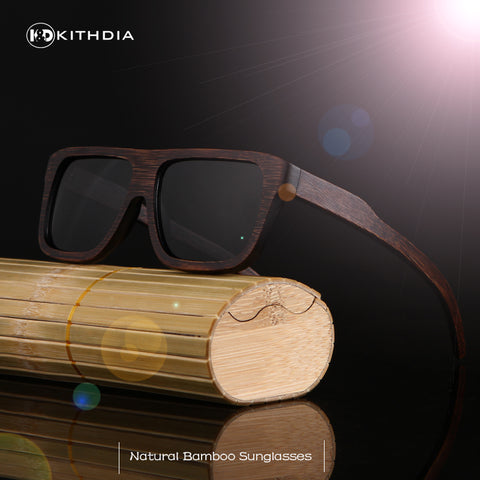 Bamboo Polarized Sunglasses Driving Frames