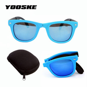 Fold-able  Retro Sunglasses With original BOX Folding Glasses With Case