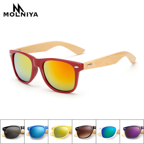 Bamboo legs Sunglasses Retro
