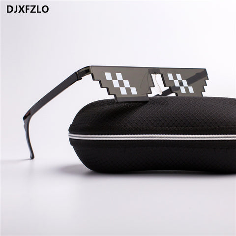 Glasses 8 Bit Pixelated Sunglasses /Thug Life Party Eyeglasses Vintage UV400