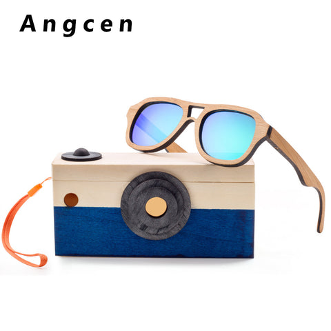 Children Sunglasses Kids Polarized Bamboo Sunglasses UV400 Protection