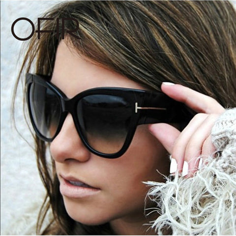 New Luxury Design Sunglasses Oversize Acetate Cat Eye