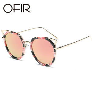 Cat Eye Sunglasses Classic Shades Round Frame