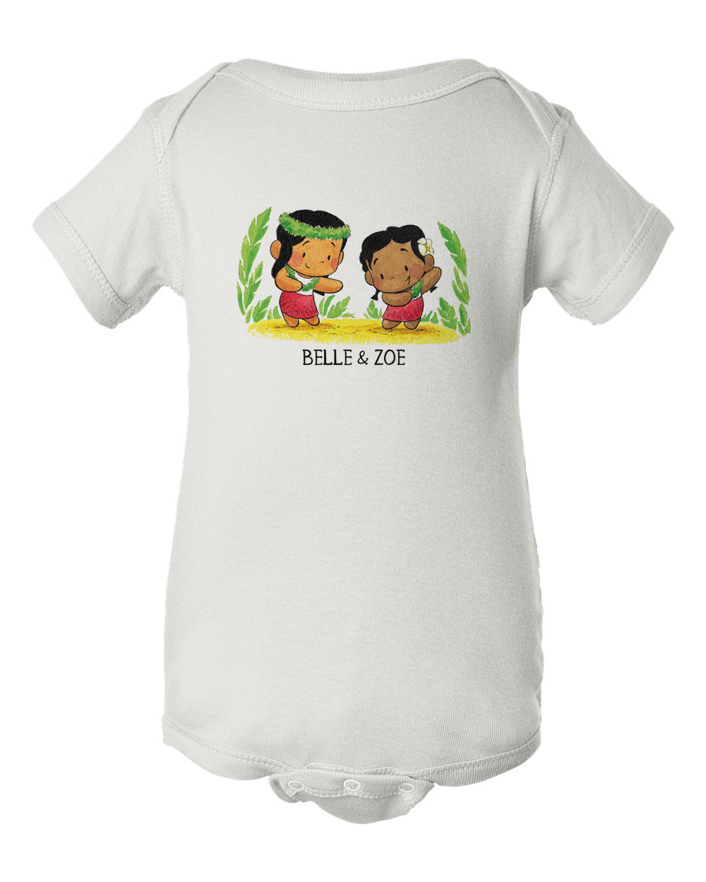 Belle & Zoe MAY DAY HULA INFANT Onesie