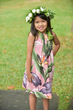 Coradorables GIRLS Birds Of Paradise Mauve Signature Ribbon Dress