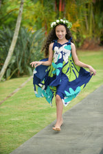 Coradorables GIRLS Mod Aloha Navy Handkerchief Dress