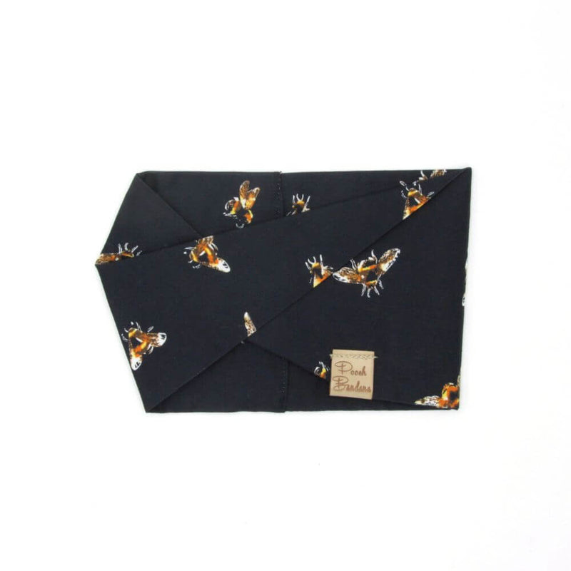 Bee Dog Snood Dark Blue