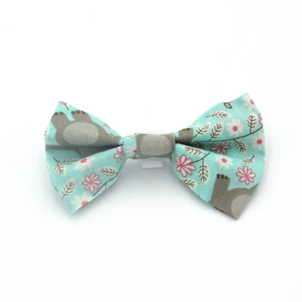 Happy Hippo Dog Bow Tie