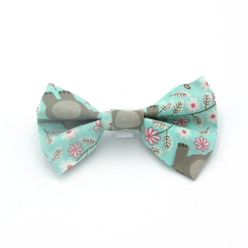 Dachshund wearing Happy Hippo Dog Bow Tie