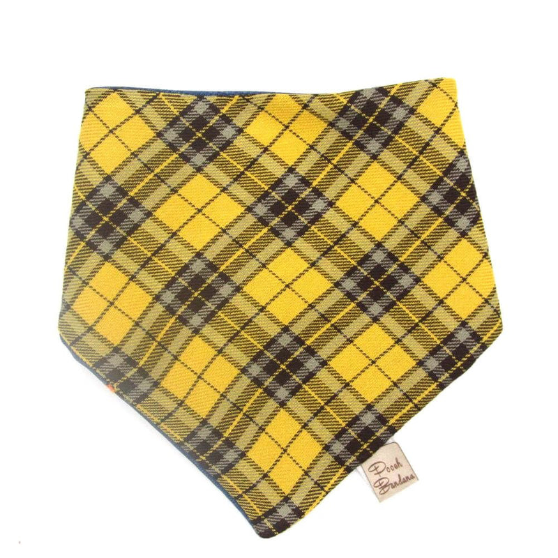 Tartan Dog Bandana Yellow