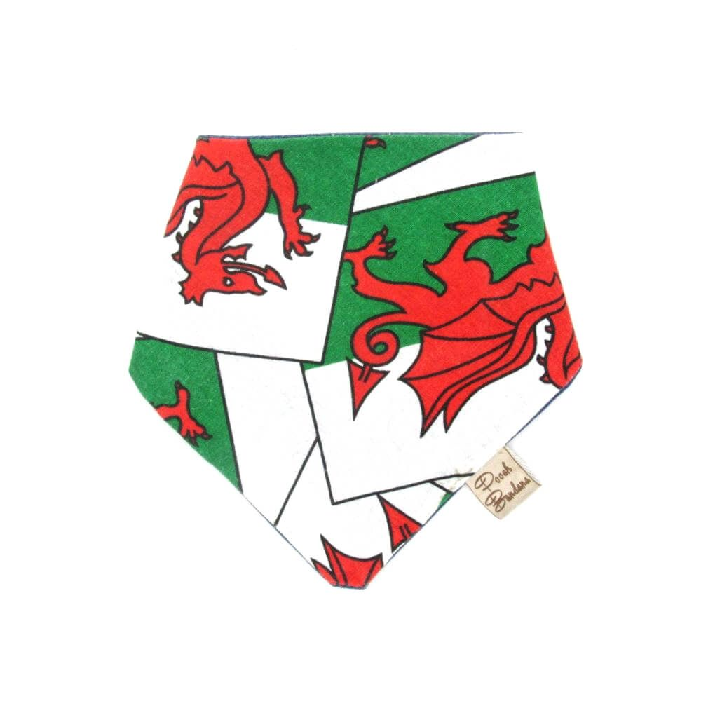 Welsh flag dog bandana