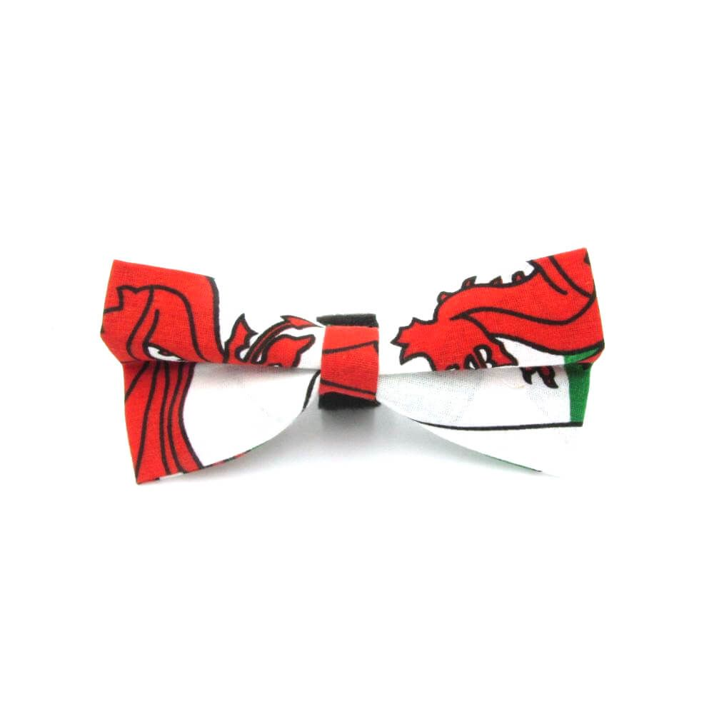 Welsh Flag Dog Bow Tie