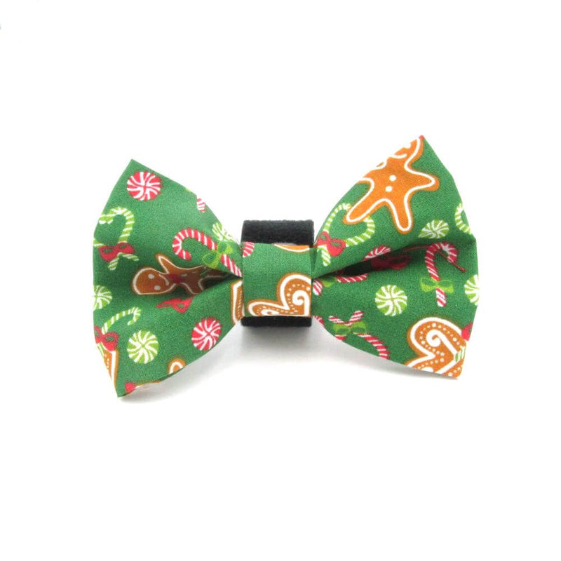 Gingerbread Christmas Dog Bow Tie