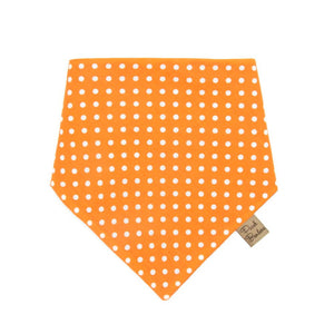 Polka Dot Dog Bandana Orange
