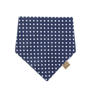 Polka Dot Dog Bandana Blue