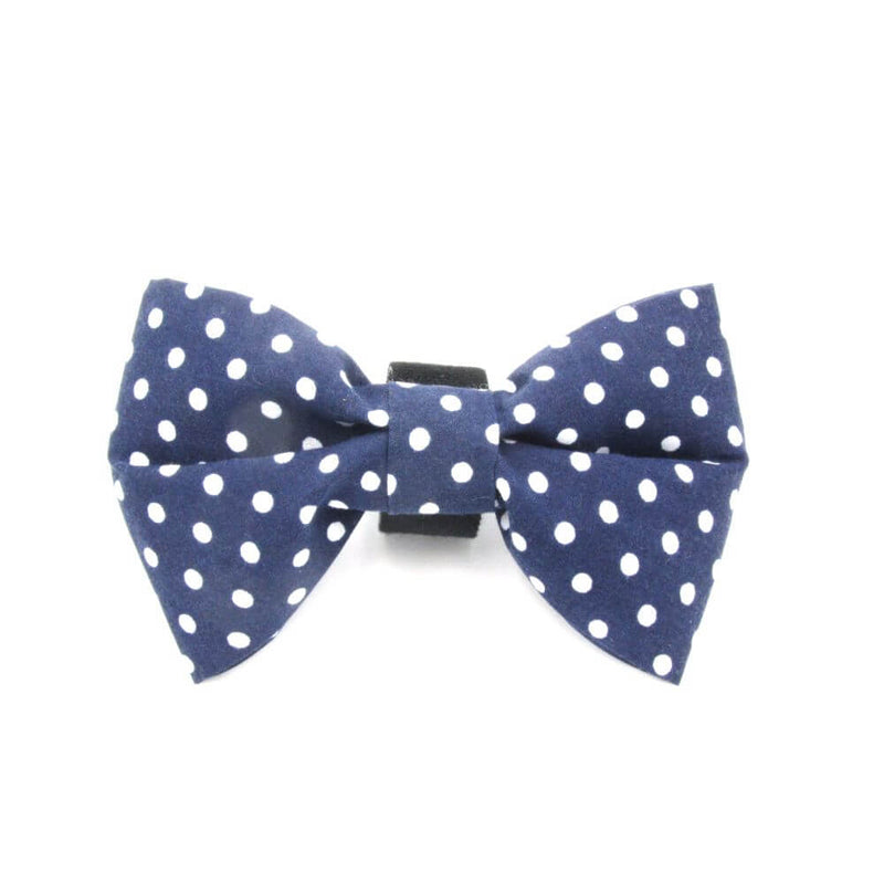 Polka Dot Dog Bow Tie Blue