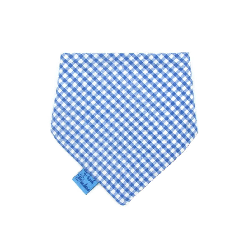 Gingham Dog Bandana Blue