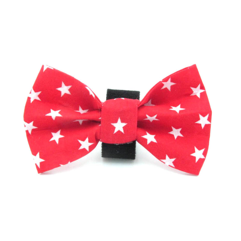 Stars Dog Bow Tie Red