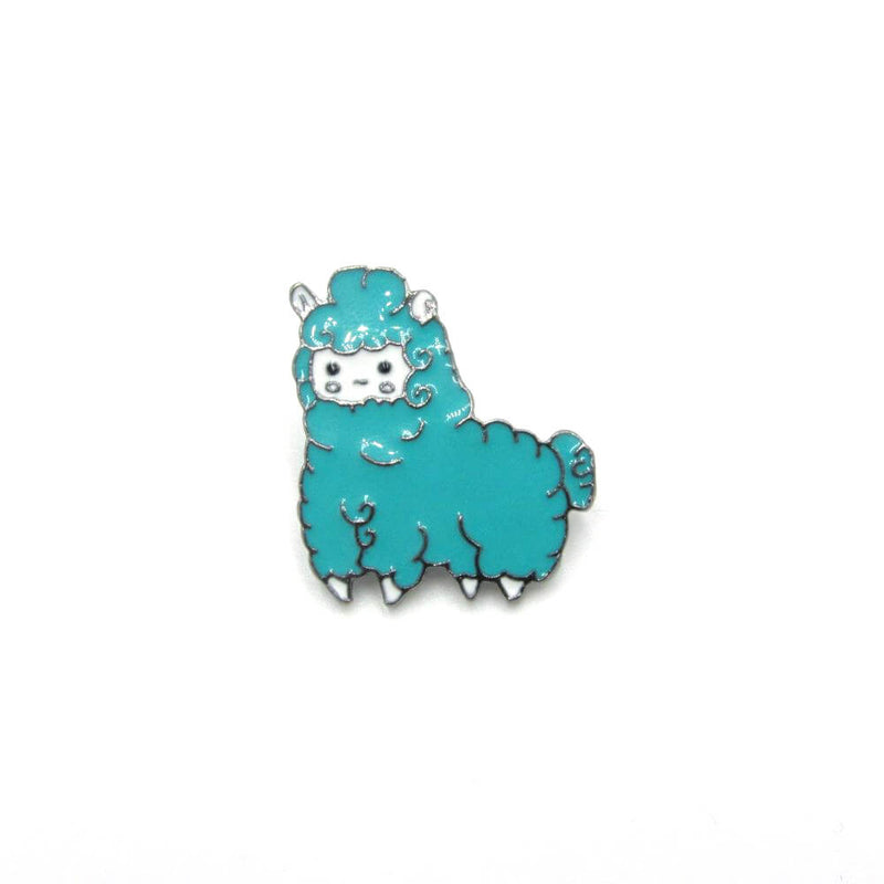 Llama Pin Badge Teal