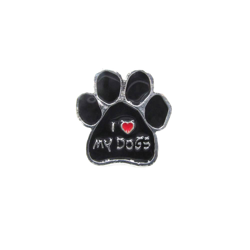 I <3 My Dogs Pin Badge