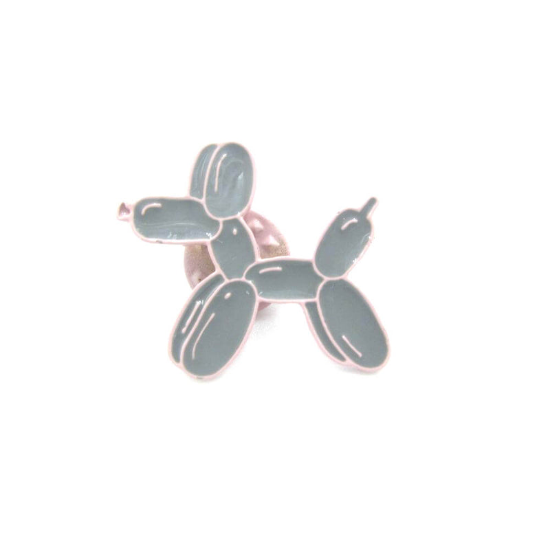 Balloon Dog Pin Badge Beige