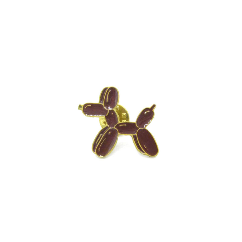 Balloon Dog Pin Badge Brown