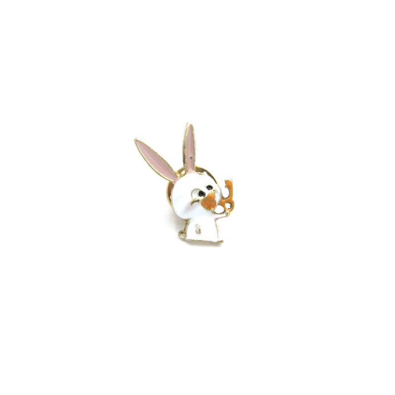 Rabbit 'Snowball' Pin Badge