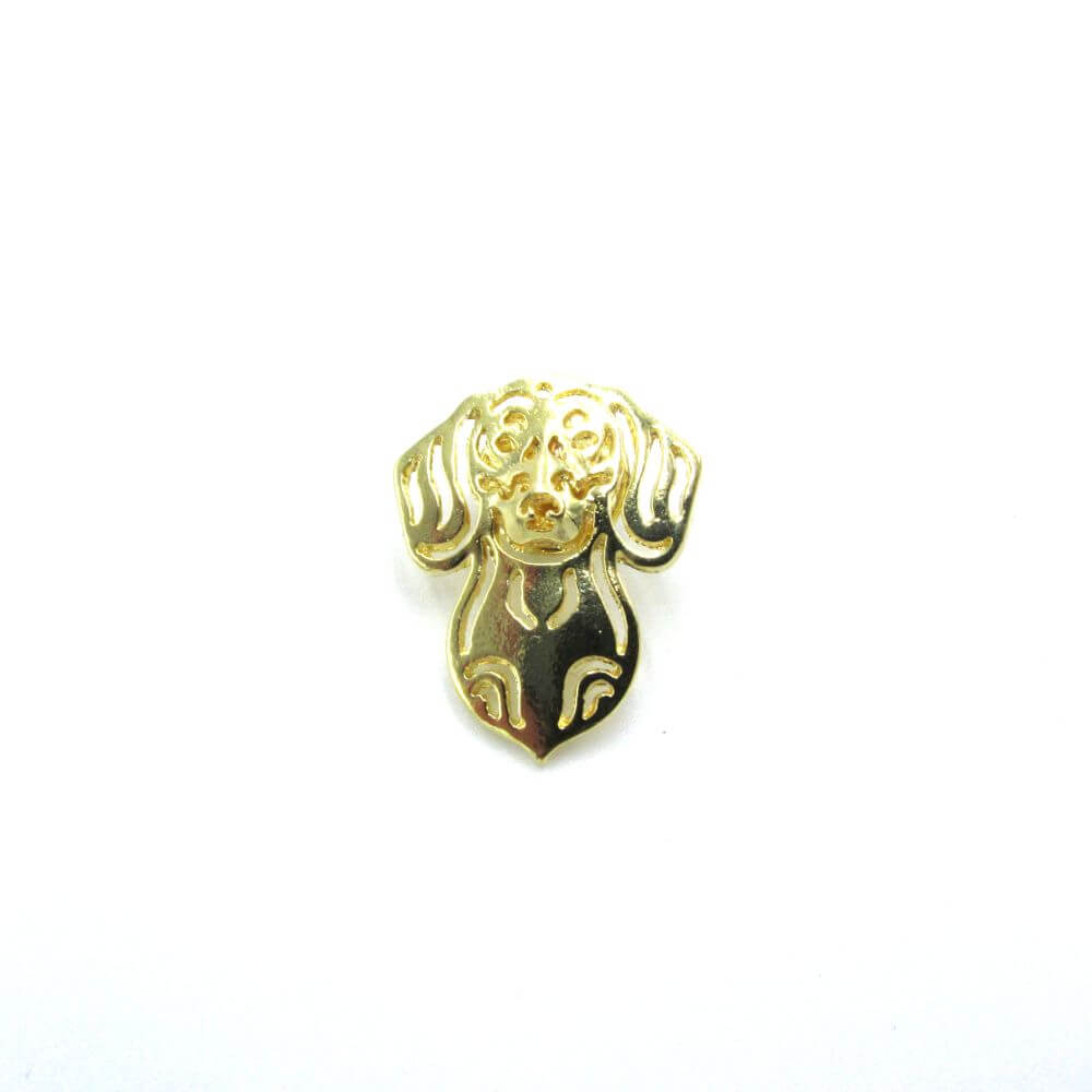Dachshund Pin Badge Gold