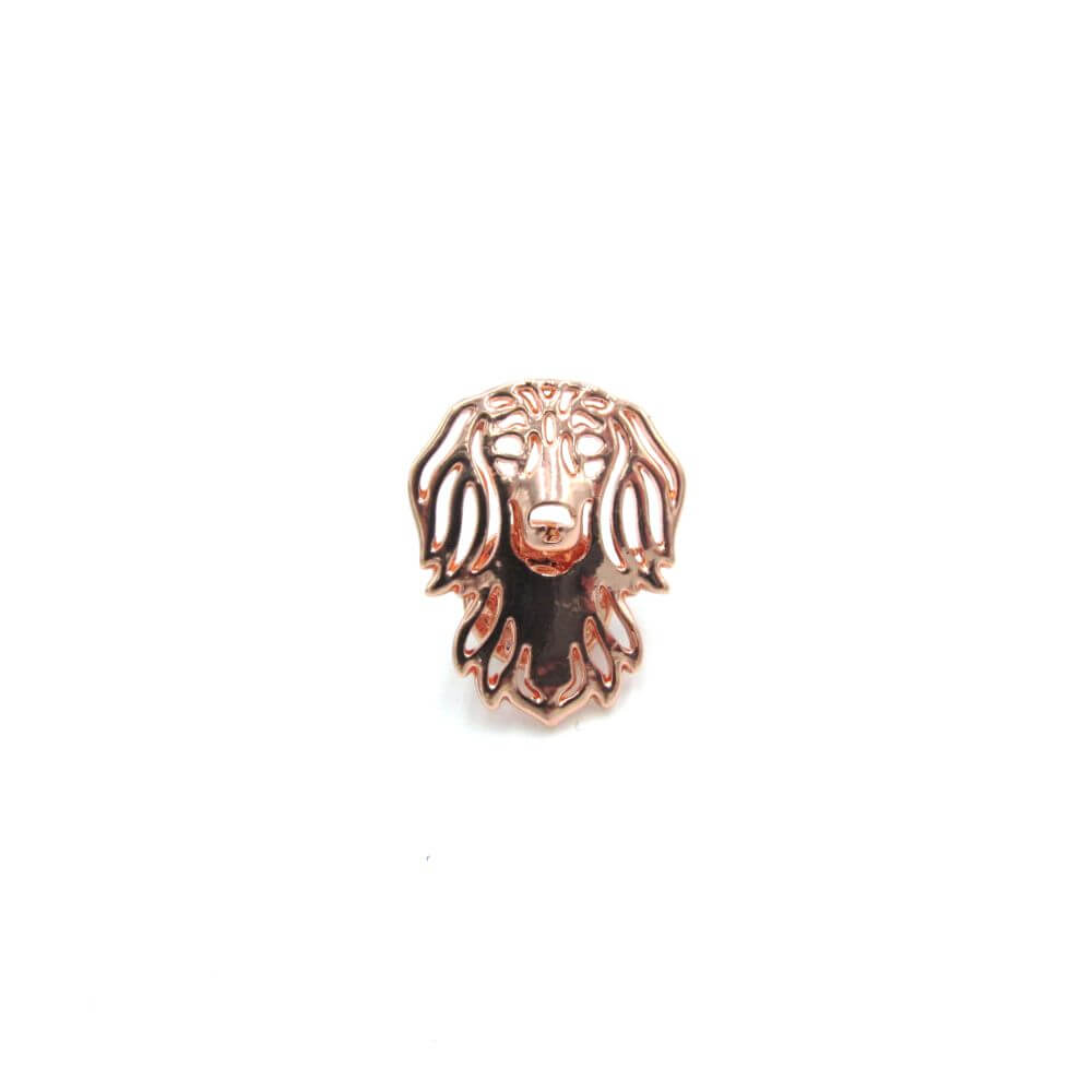 Dachshund Pin Badge Copper
